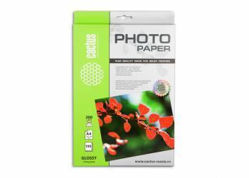 Фотобумага Cactus (CS-GA4200100) A4 / 200г / м2 / 100л. белый