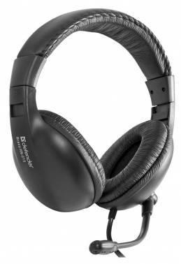 Наушники с микрофоном Defender Bravo HN-015 черный (63015)
