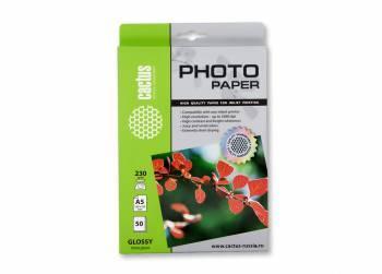 Фотобумага Cactus (CS-GA523050) A5 / 230г / м2 / 50л. белый