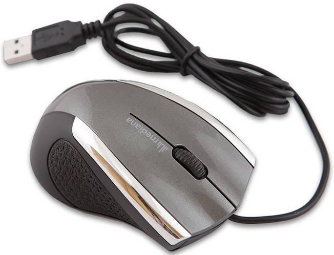 Мышь Mediana M-101 серый - фото 2