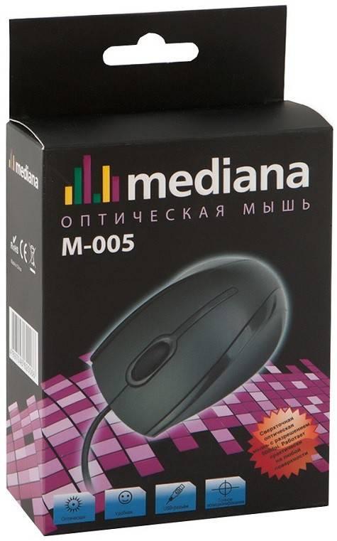 Мышь Mediana M-005 черный - фото 3