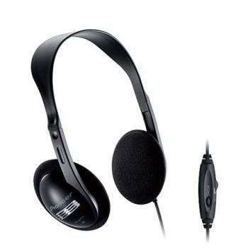 Наушники Pioneer SE-A611TV черный, накладные, крепление оголовье, проводные, кабель 5м, регулятор громкости на проводе