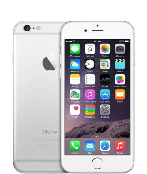 Смартфон Apple iPhone 6 MG4H2RU/A 64ГБ серебристый - фото 1