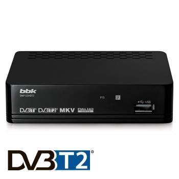 Ресивер DVB-T2 BBK SMP123HDT2 черный, разъемы HDMIx1, USBx1, RCAx1