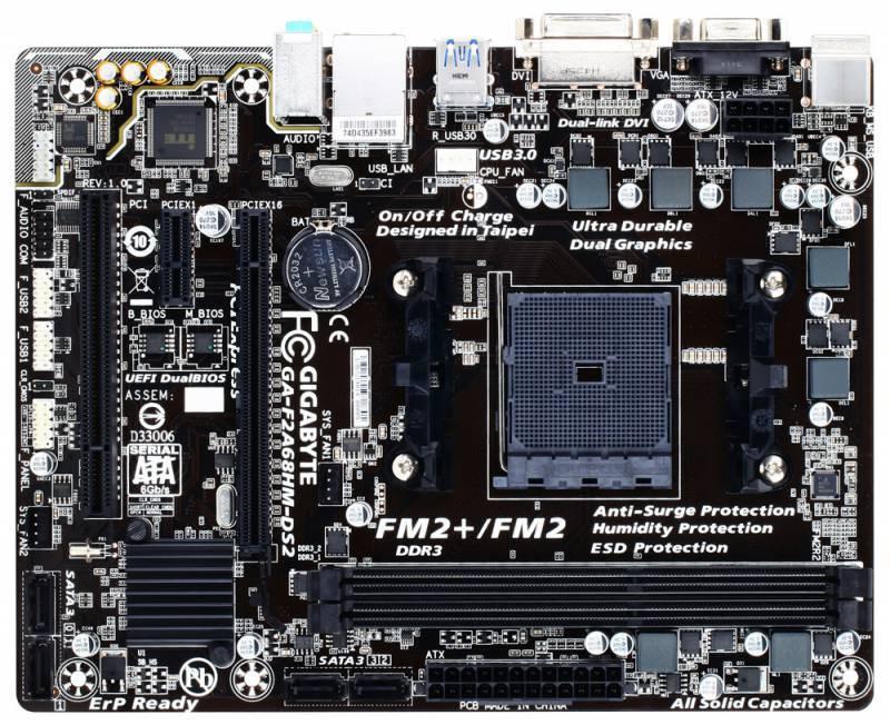 Материнская плата Gigabyte GA-F2A68HM-DS2 Soc-FM2+ mATX - фото 2