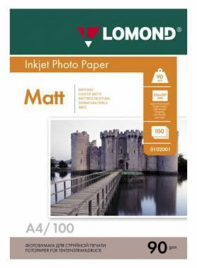 Фотобумага Lomond 0102001 A4 90г/м2 100л. белый