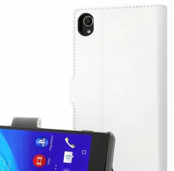 Чехол Muvit MFX Wallet Folio, для Sony Xperia Z3 compact, белый (SEWAL0006)