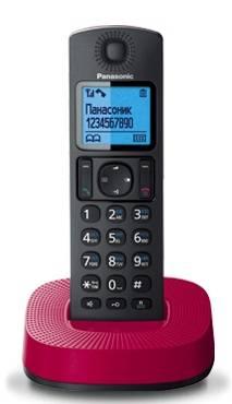 Телефон Panasonic KX-TGC310RUR черный / красный
