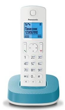 Телефон Panasonic KX-TGC310RUC белый / голубой