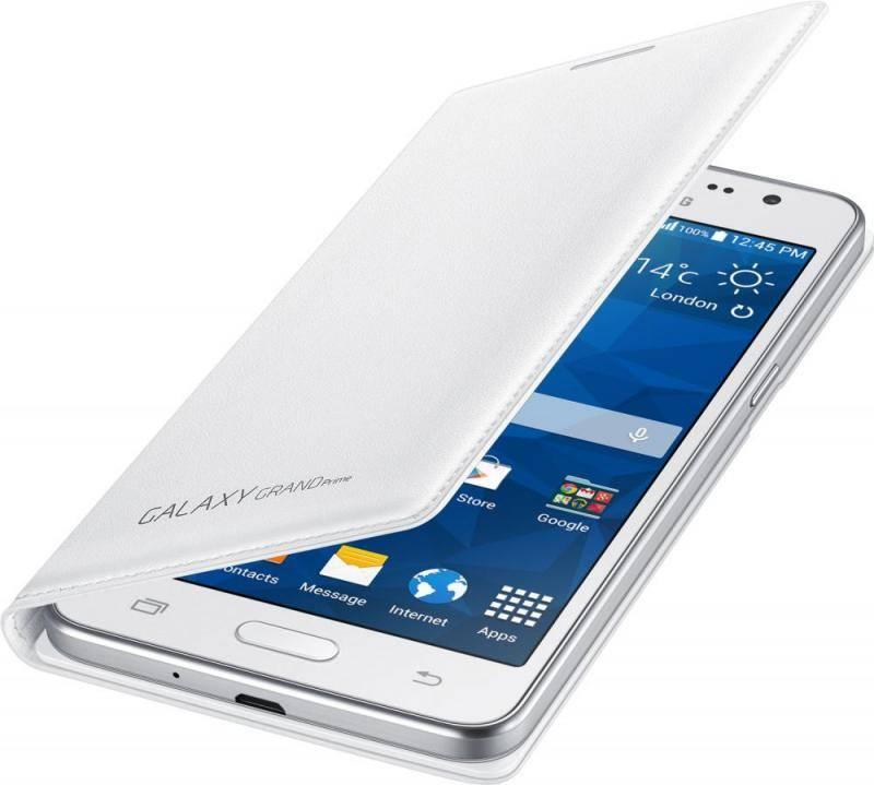 Чехол (флип-кейс) Samsung Flip Wallet белый - фото 3