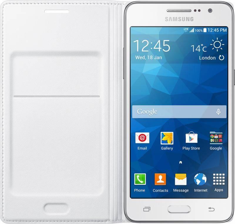 Чехол (флип-кейс) Samsung Flip Wallet белый - фото 4