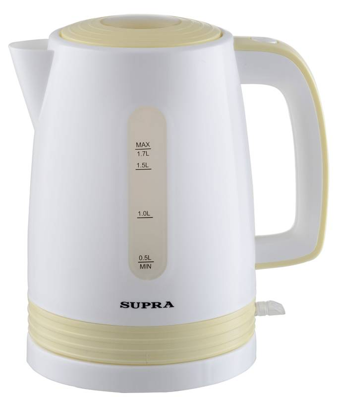 Чайник электрический Supra KES-1723 белый/желтый - фото 1