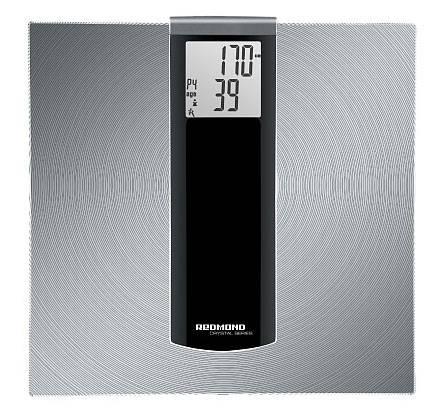 Весы напольные электронные Redmond RS-740S серебристый/черный - фото 1