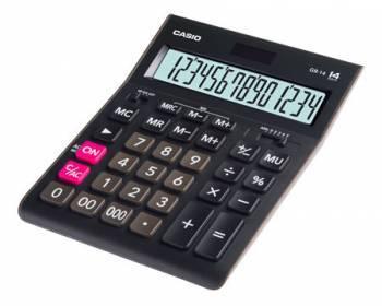 Калькулятор настольный Casio GR-14 черный (GR-14-W-EH)