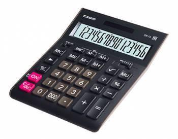 Калькулятор настольный Casio GR-16 черный (GR-16-W-EH)