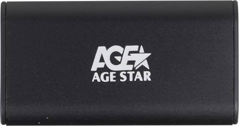 Внешний корпус для SSD AgeStar 3UBMS1 mSATA черный - фото 1