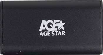 Внешний корпус AgeStar 3UBMS1 mSATA черный