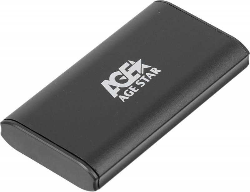 Внешний корпус для SSD AgeStar 3UBMS1 mSATA черный - фото 2