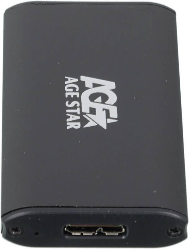 Внешний корпус для SSD AgeStar 3UBMS1 mSATA черный - фото 3