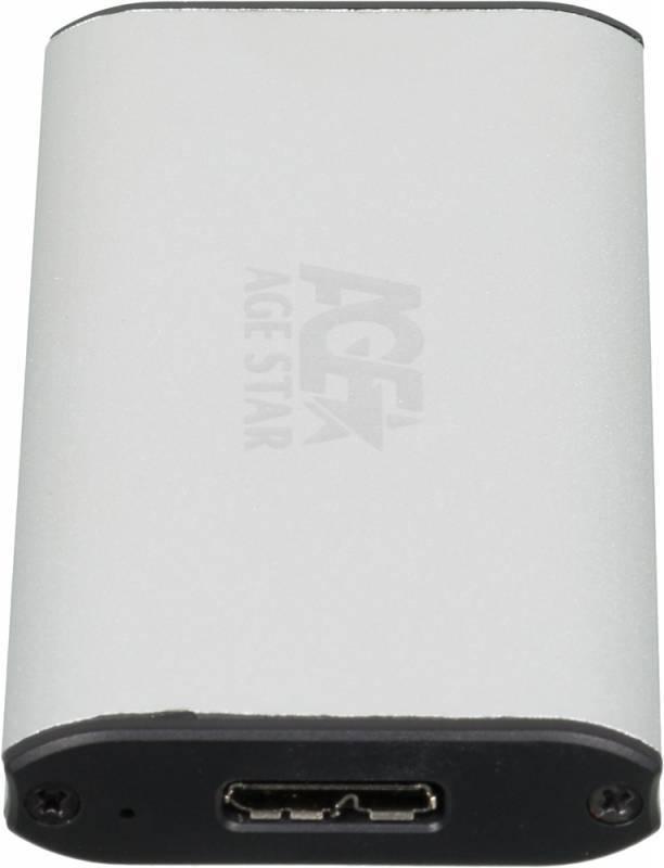 Внешний корпус для SSD AgeStar 3UBMS1 mSATA серебристый - фото 2