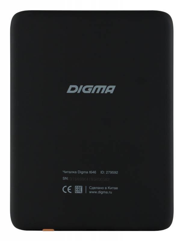 """Электронная книга 6"""" Digma T646 черный - фото 2"""