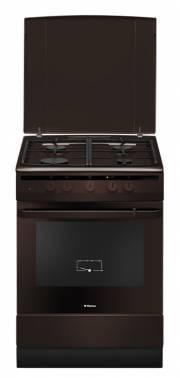 Плита газовая Hansa FCGB63021 коричневый, отдельностоящая, газовых конфорок 4, духовка: газовая, объем духовки 58л