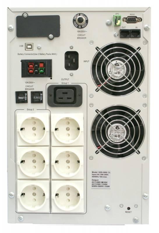 ИБП Powercom Vanguard VGD-2000 1400Вт белый - фото 1