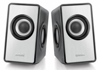Акустическая система 2.0 BBK CA-203S серебристый / черный