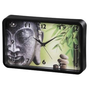 Настенные часы Hama Buddha Bamboo аналоговые черный