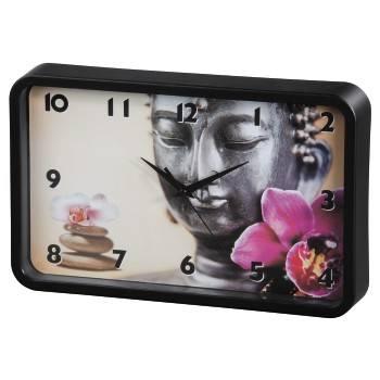 Настенные часы Hama Buddha Flower аналоговые черный