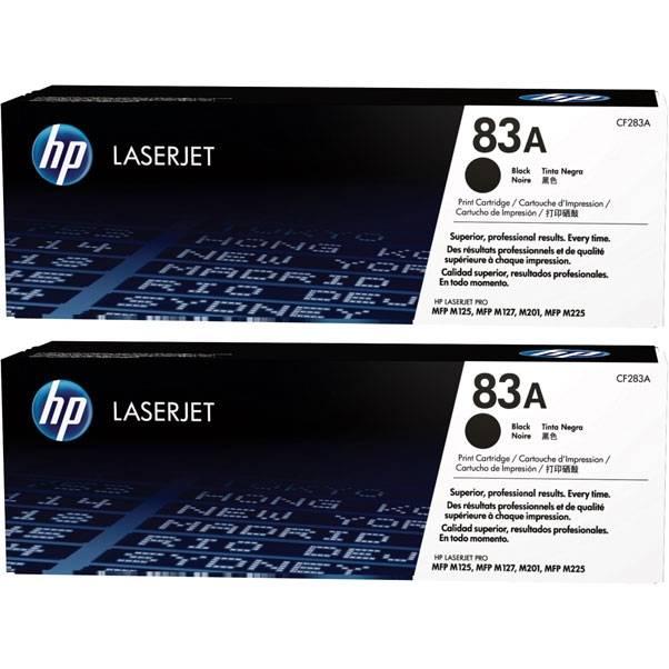 Двойная упаковка картриджей HP 83A черный (CF283AD) - фото 1