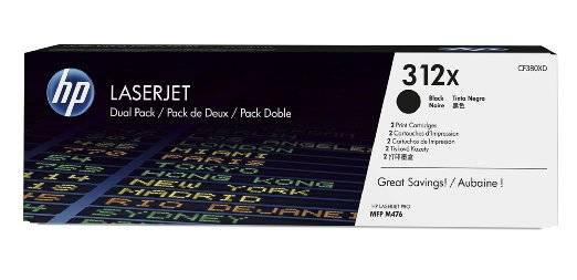 Двойная упаковка картриджей HP 312X черный (CF380XD) - фото 1
