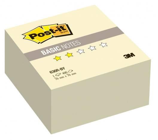 Блокнот 3M 636R-BY Post-it Basic желтый 76х76мм 400л (7100041089) - фото 1