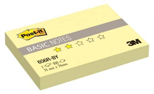 Блокнот 3M 656R-BY Post-it Basic канареечный желтый 51х76мм 100л (7100020769) - фото 1