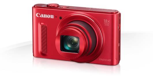 Фотоаппарат Canon PowerShot SX610 HS красный - фото 1