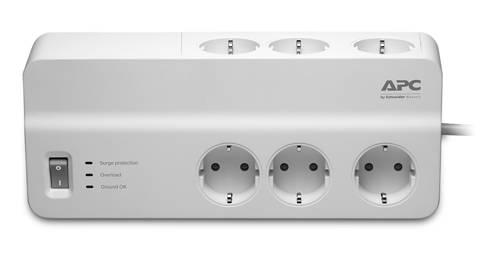 Сетевой фильтр APC PM6-RS 2м белый - фото 1
