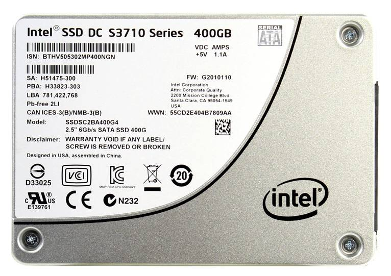 Накопитель SSD 400Gb Intel DC S3710 SSDSC2BA400G401 SATA III (SSDSC2BA400G401 937743) - фото 1