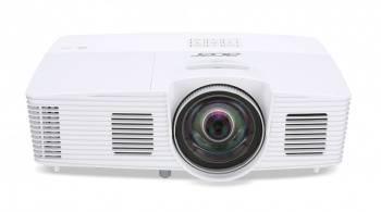 Проектор Acer S1283e белый, технология DLP, яркость 3100Lm, разрешение 1024x768, контраст 13000:1, ресурс лампы до 4000 часов, вес 2.8кг