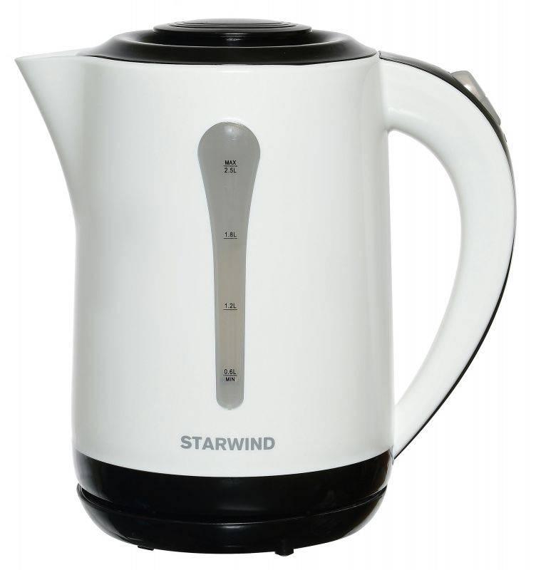 Чайник электрический Starwind SKP2212 белый/черный - фото 1
