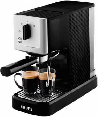 Кофемашина Krups XP344010 черный/серебристый (8000035224)