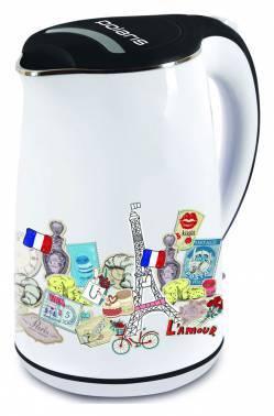 Чайник электрический Polaris PWK1742CWr белый/рисунок