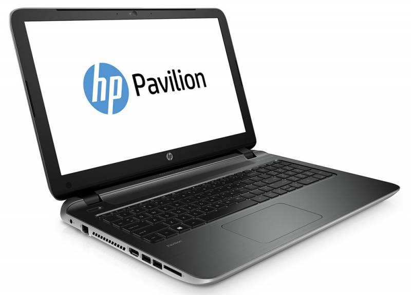 "Ноутбук 15.6"" HP Pavilion 15-p252ur серебристый - фото 1"