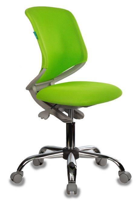 Кресло детское Бюрократ KD-7 салатовый (KD-7/TW-18) - фото 1