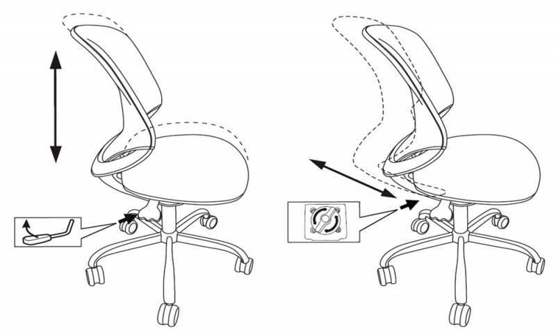 Кресло детское Бюрократ KD-7 салатовый (KD-7/TW-18) - фото 6