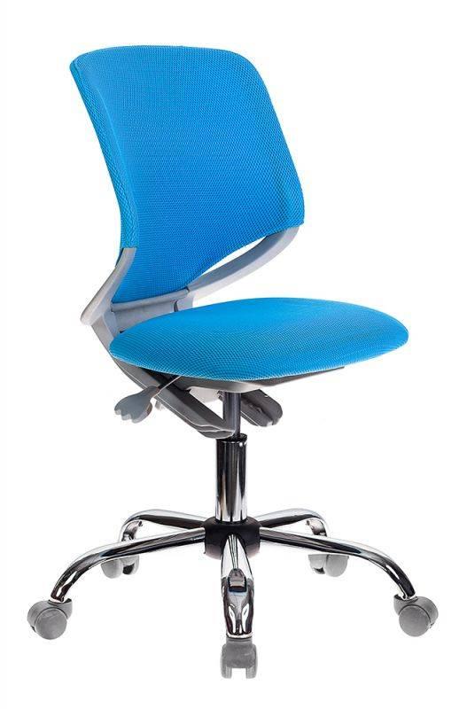 Кресло детское Бюрократ KD-7 голубой (KD-7/TW-55) - фото 1