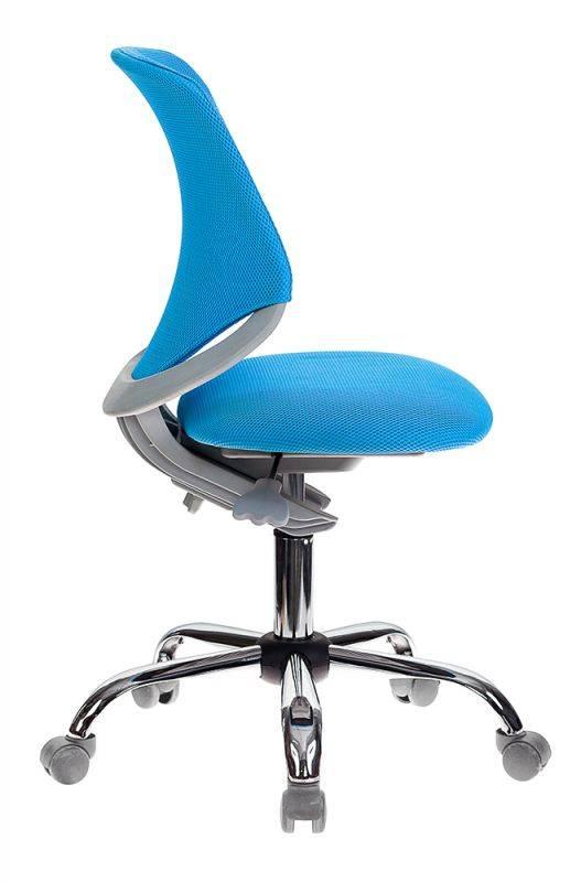 Кресло детское Бюрократ KD-7 голубой (KD-7/TW-55) - фото 3
