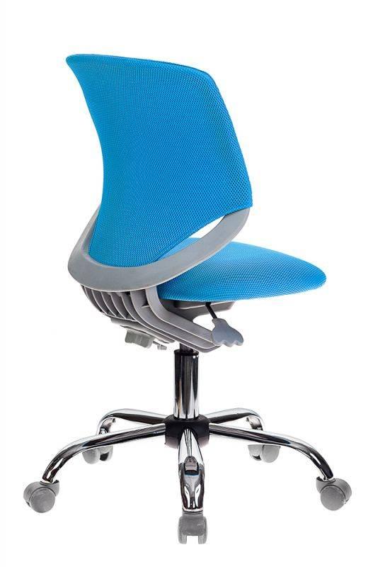 Кресло детское Бюрократ KD-7 голубой (KD-7/TW-55) - фото 4