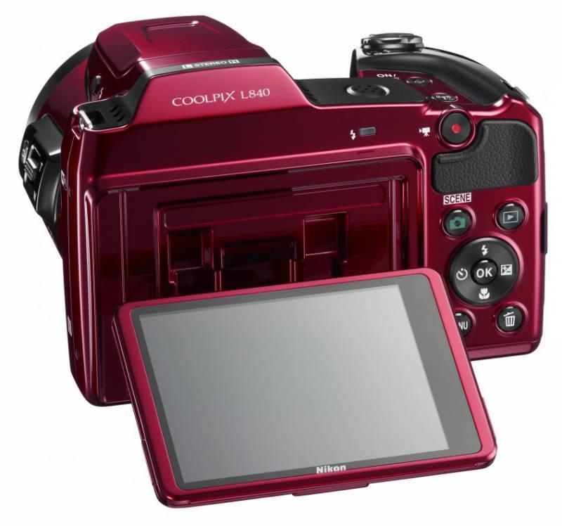 Фотоаппарат Nikon CoolPix L840 красный - фото 5