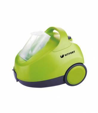 Пароочиститель напольный Kitfort КТ-912 зеленый/серый