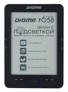 Электронная книга 6 Digma R658 черный
